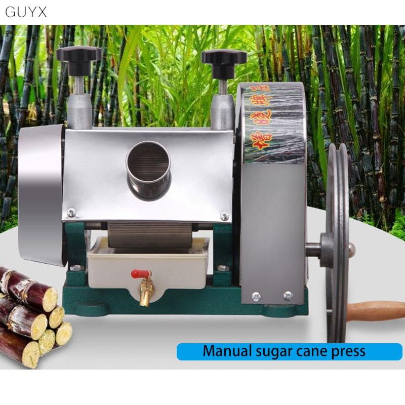 الفولاذ المقاوم للصدأ دليل عصارة قصب السكر مستخرج قصب السكر ماكينة عصر سطح المكتب التجاري اليد