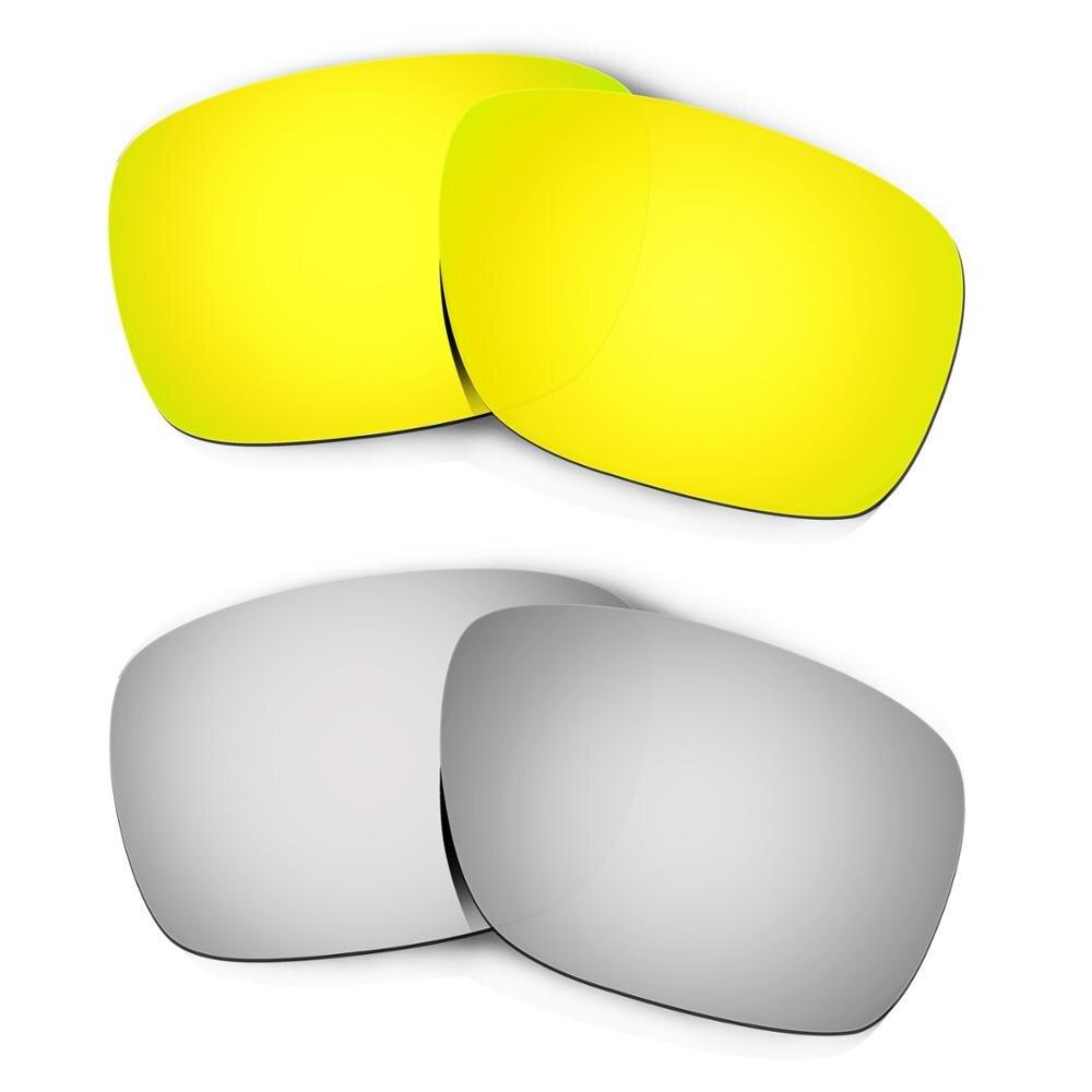 HKUCO ل التوربينات النظارات الشمسية استبدال العدسات المستقطبة 2 أزواج-الذهب والفضة