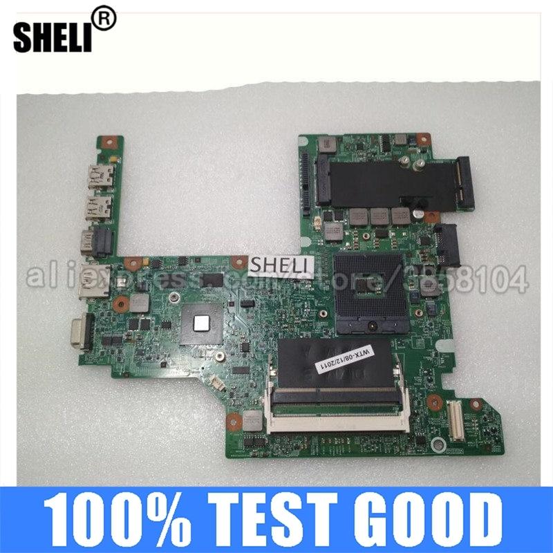 Sheli para Dell Computador Portátil Notebook Placa-mãe Hm57 48.4es11. 011 Cn-08yn7x Cn-02f7yn 2f7yn Mainboard 100% Testado Bom V3400 3400