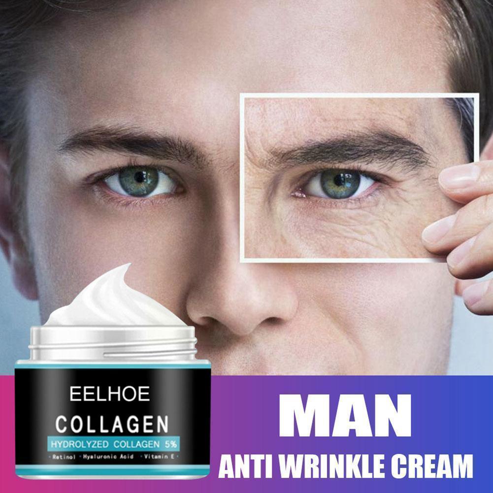 1pcs Anti Aging Face Cream Hyaluronic Acid Serum Anti Cream For Mens Wrinkle Whitening Day Moisturizing Oil-control Cream A H8V7 недорого
