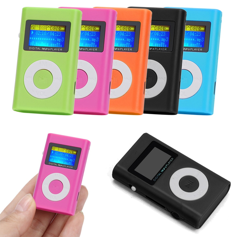 Usb Mini Mp3 Player Lcd Screen Support 32gb Micro Sd Tf Card Metal Case Natural, Rock, Classic, Jazz