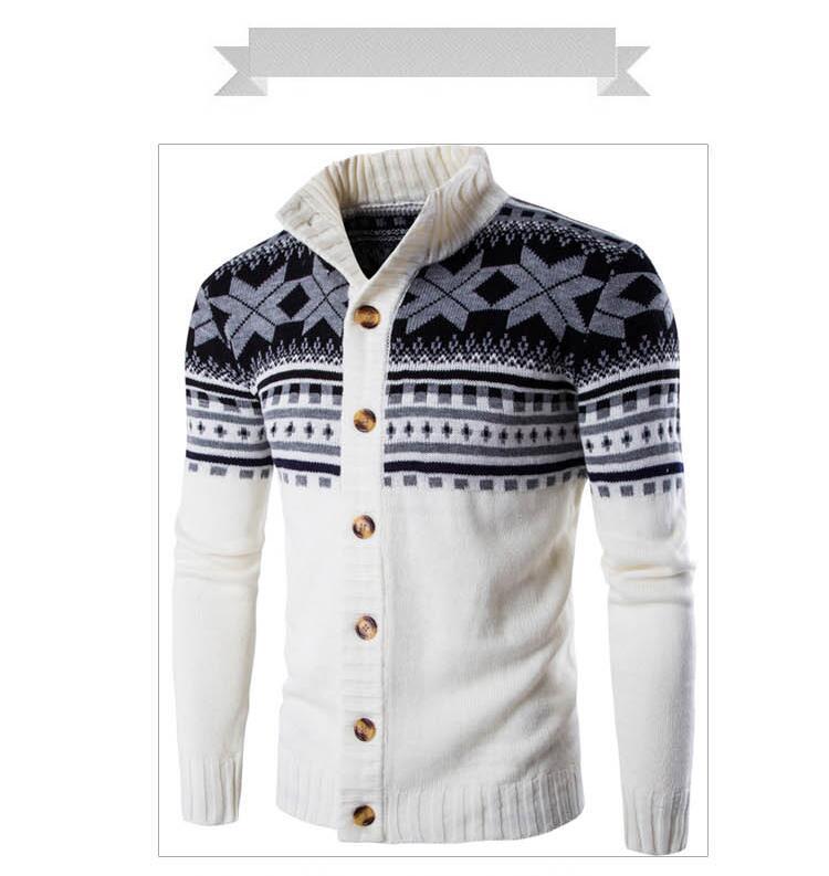 새로운 가을 겨울 스웨터 남자 솔리드 컬러 캐주얼 스웨터