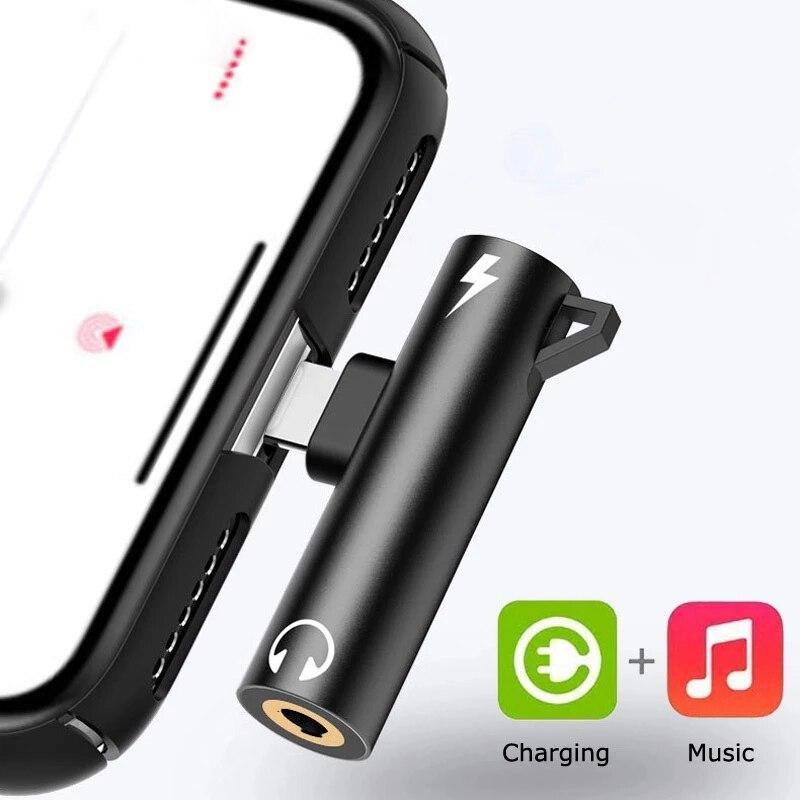 Adaptador de Audio 2 en 1 para auriculares, divisor de carga Dual...