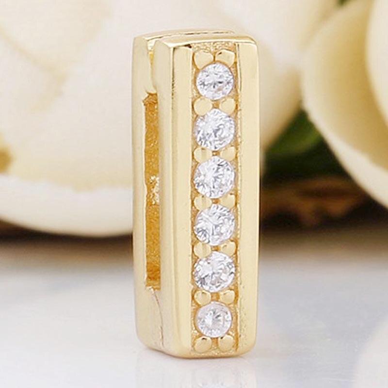 Cor do ouro original brilho reflexions atemporal brilho clipe contas caber 925 prata esterlina grânulo charme pandora pulseira jóias diy