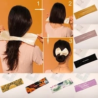 1pc 2021 trend fashion deft bun maker colorful women hair styling headband braid hair twist french stylish diy hair accessories