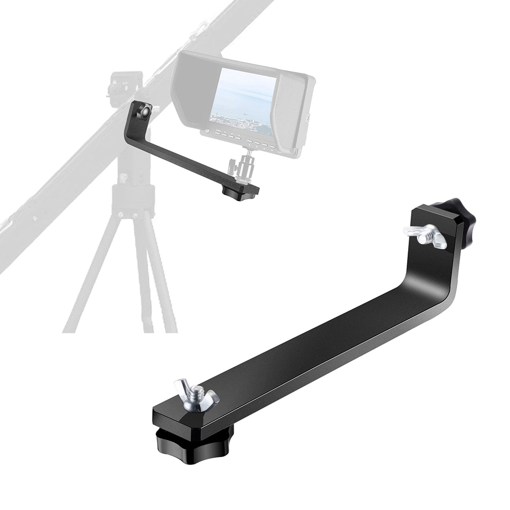 Soporte en forma de L para grúa de cámara para Monitor LCD LED con orificio de tornillo de 1/4 pulgadas accesorios de extensión de brazo de cámara completamente de Metal GK