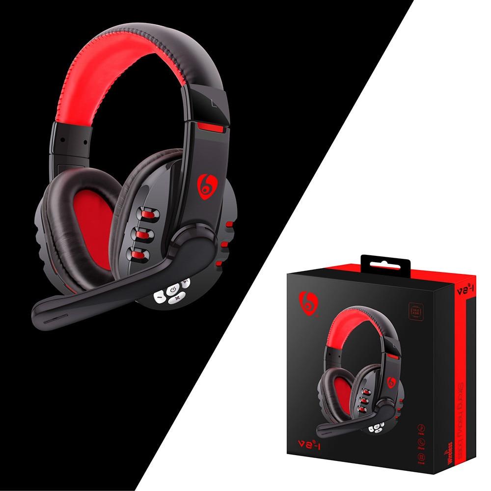 Bluetooth gaming headset fones de ouvido com microfone para pc para o telefone para pubg suporte do computador móvel tablet graves pesados