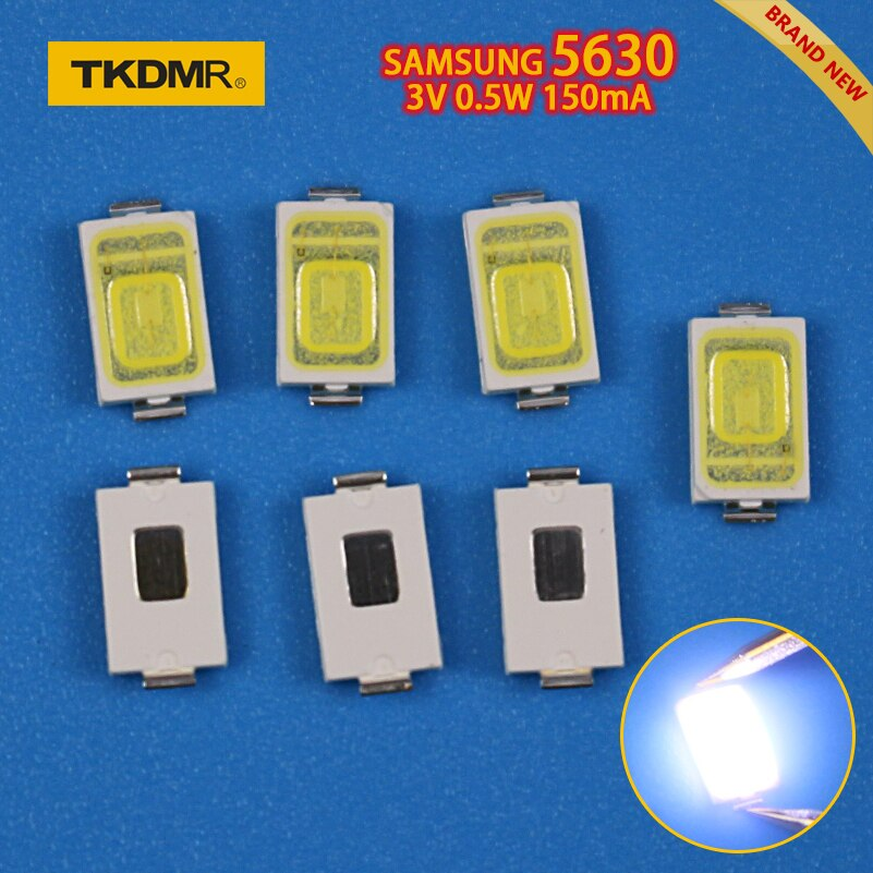TKDMR 50PCS LED Backlight 0.5W 3v 5630 Cool white for SAMSUNG LCD Backlight for TV TV Application Super Bright Diode SMD