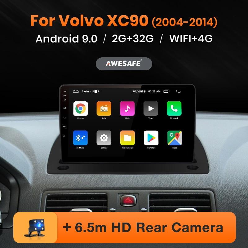 AWESAFE PX9 para Volvo XC90 2004-2014 auto Radio Multimedia reproductor de video GPS No 2 din Android 9,0 2GB + 32GB