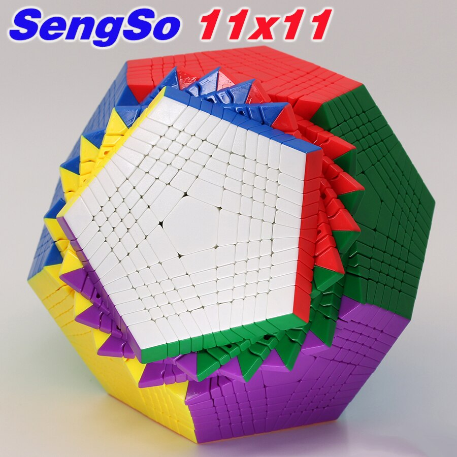 أُحجية مكعبات سحرية SengSo megaminxads Dodecahedron 12 تواجه مكعبات عالية المستوى المهنية
