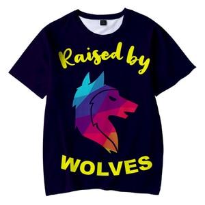 Funny Cool Raised By Wolves T-shirt 3D O-Neck Men's T Shirt Women Summer Short Sleeve Tee Boy Girl Harajuku Fashion Tops