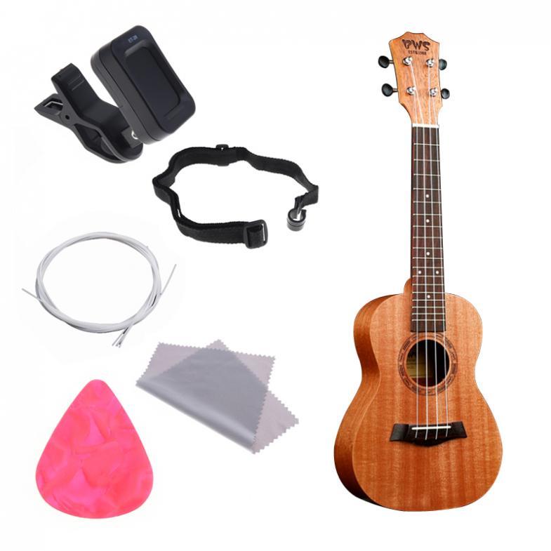 23 Inch Concert Full Kit Ukulele Wood Hawaiian Four String Guitar Mahogany Wood Ukulele Christmas Gifts enlarge