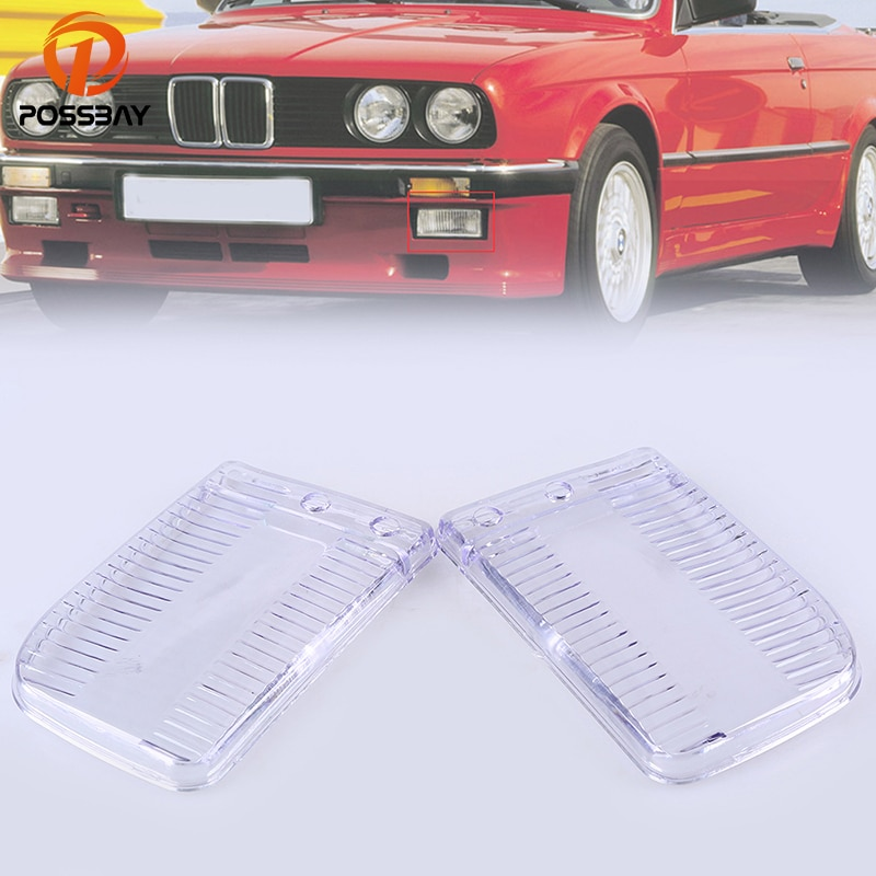 Прозрачные линзы posbay для BMW E30 прозрачные фар с левой и правой стороны Обложка