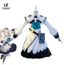 ROLECOS Genshin Impact Barbara Cosplay Costume Barbara Dress Cosplay Game Genshin Impact Costume Uni