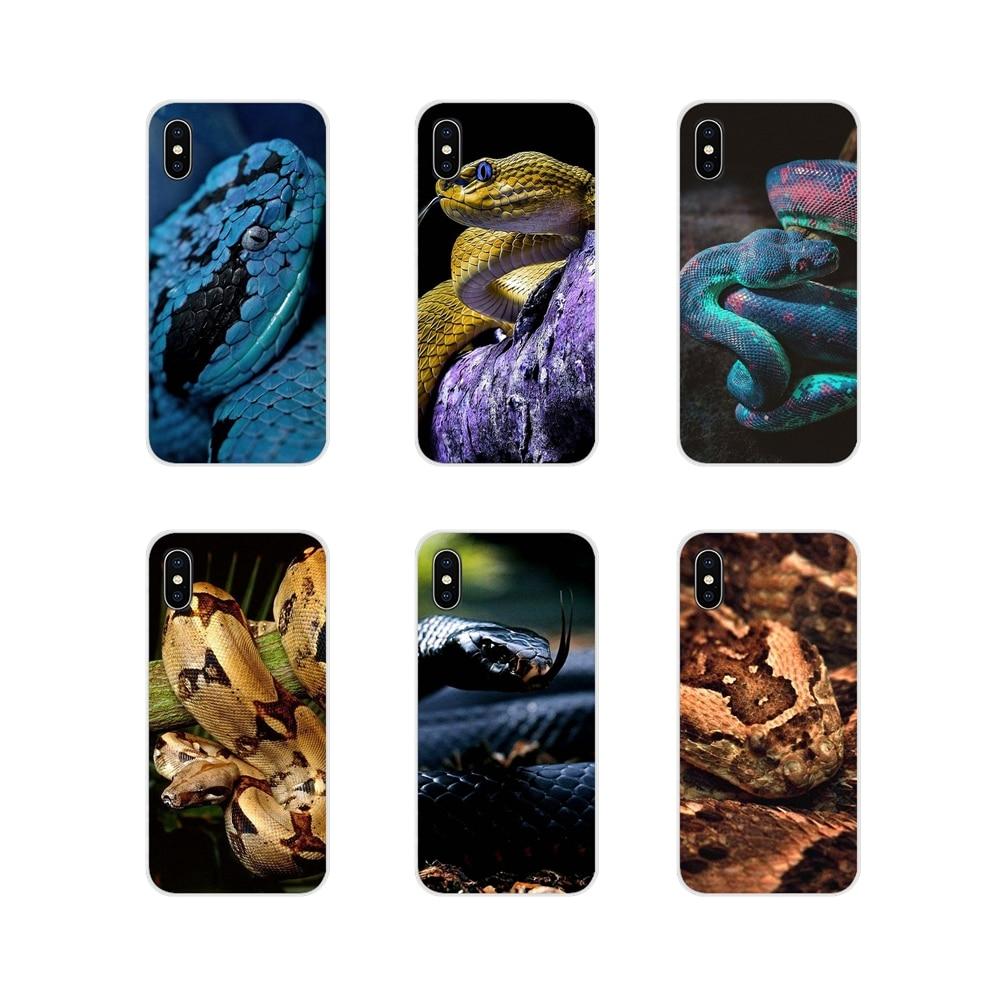Bolsa suave caso loco negro Python serpiente víbora papel pintado para Apple iPhone X XR XS 11Pro MAX 4S 5S 5C SE 6 6S 7 7 Plus ipod touch 5 6