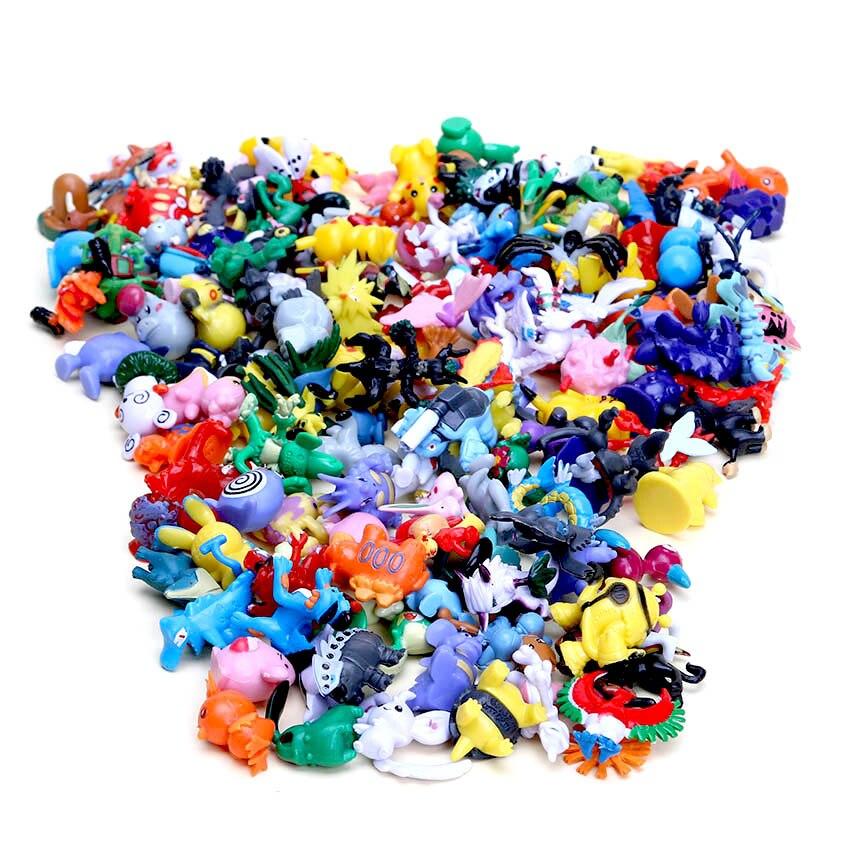 144 шт., Torchic Chikorita Blastoise Totodile Mewtwo, фигурки для детей, игрушки для детей на день рождения, рождественские подарки, 2-3 см