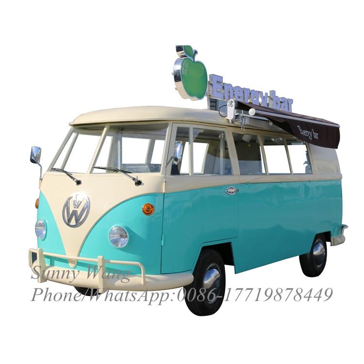 Carro de comida móvil de 4,32 m, furgoneta de comida callejera para remolque, caravana, carrito de café, camión retro