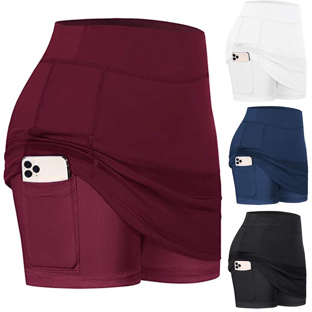Saia tênis feminina desempenho ativo, roupa lápis plus size feminina tênis golf treino #0610y30