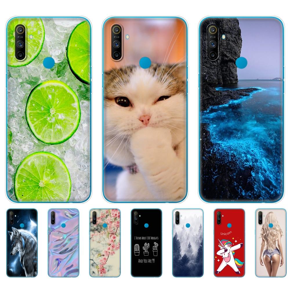 case For Realme C3 Case Soft Silicon TPU Back cover For OPPO Realme C3 RMX2020 C 3 Coque Capa Funda