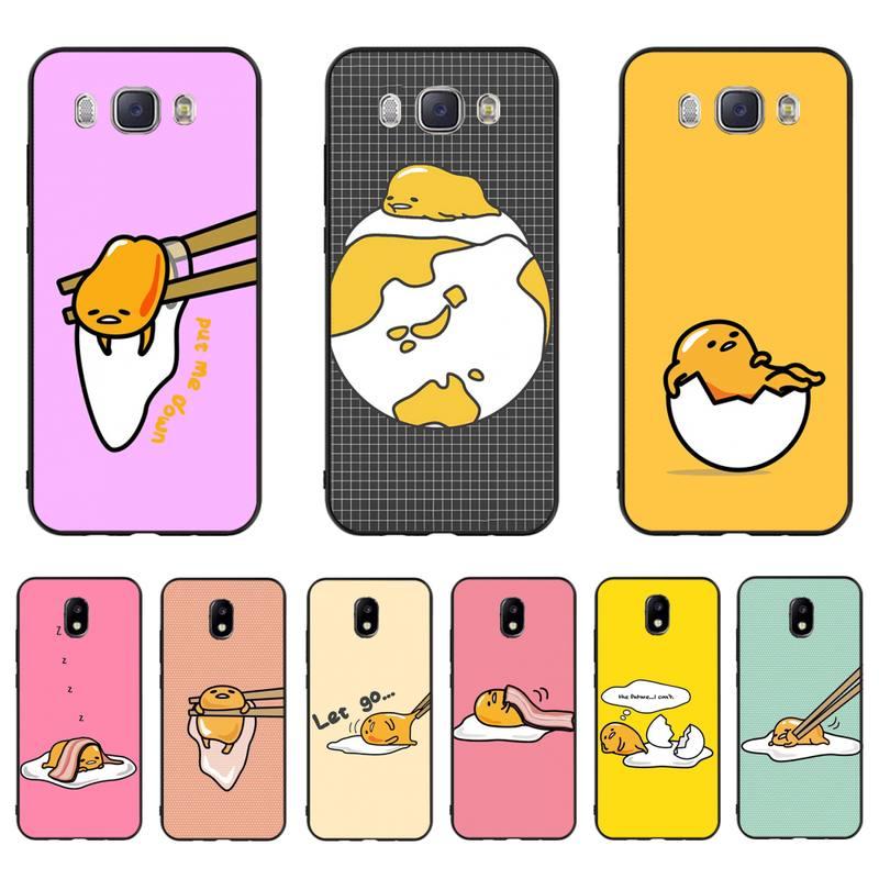 MaiYaCa encantadora gudetama huevo perezoso novedad caja del teléfono para Samsung J7 J8 J6 J4Plus J5 J7Prime J2 J5Prime M10 M20 M30