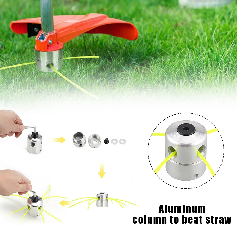 AliExpress - Aluminum grass trimmer head with four rows of cutting heads for replacing lawn mower brush cutter garden tool accessories