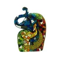 Mosaique delephant en resine pour decoration de maison  Statues et Sculptures danimaux