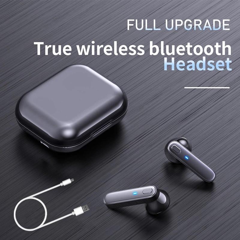 R20 TWS Earphone Bluetooth Wireless Headset Waterproof Deep Bass Earbuds True Wireless Stereo Headphone With Mic Sport Earphone enlarge
