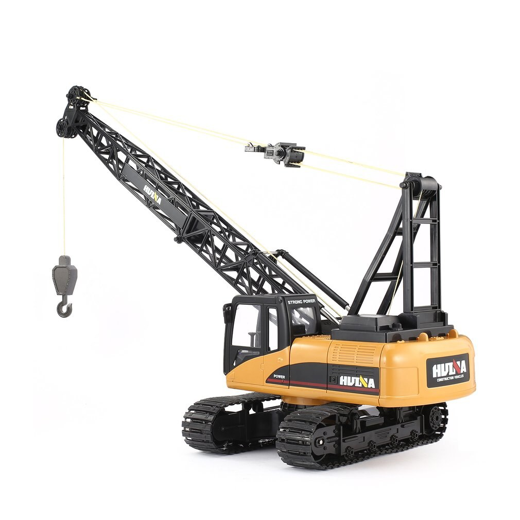 HUINA 1572 15ch RC Alloy Crane 1/14 2.4GHz Engineering Movable Latticed Boom Hook Mechanical Truck Toy Car With Sound Light ti enlarge