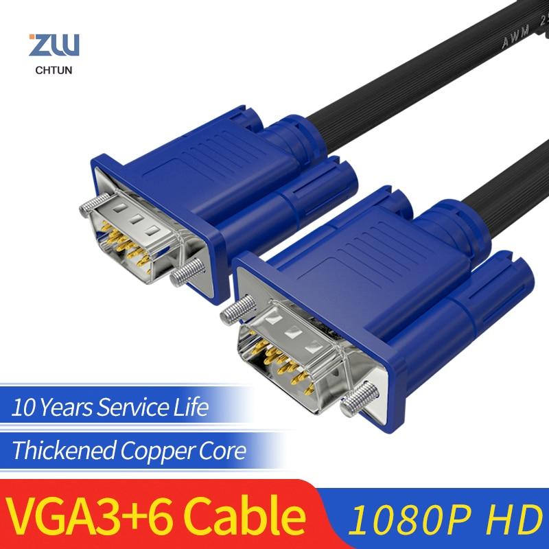 GCX Cable VGA macho a macho 15Pin Full HD 1920*1080P VGA3 +...
