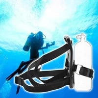 1pc scuba diving single tank back pack single holder backpack gas cylinder bracket used in diving underwater production