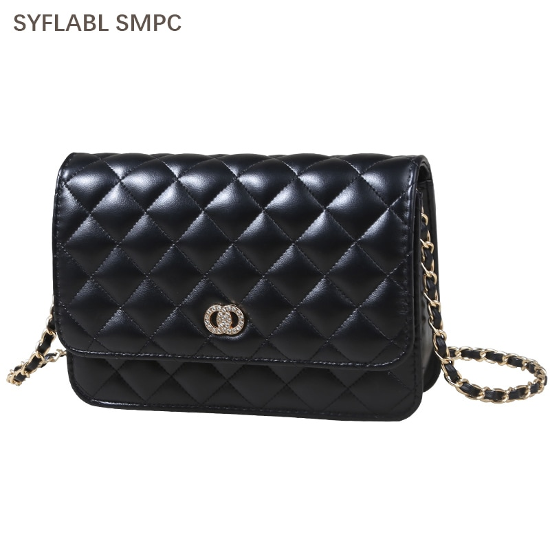 PU Leather Shoulder Bag for Women 2021 Simple Luxury Solid Color Crossbody Bag Ladie Design Fashion Handbag and Purses