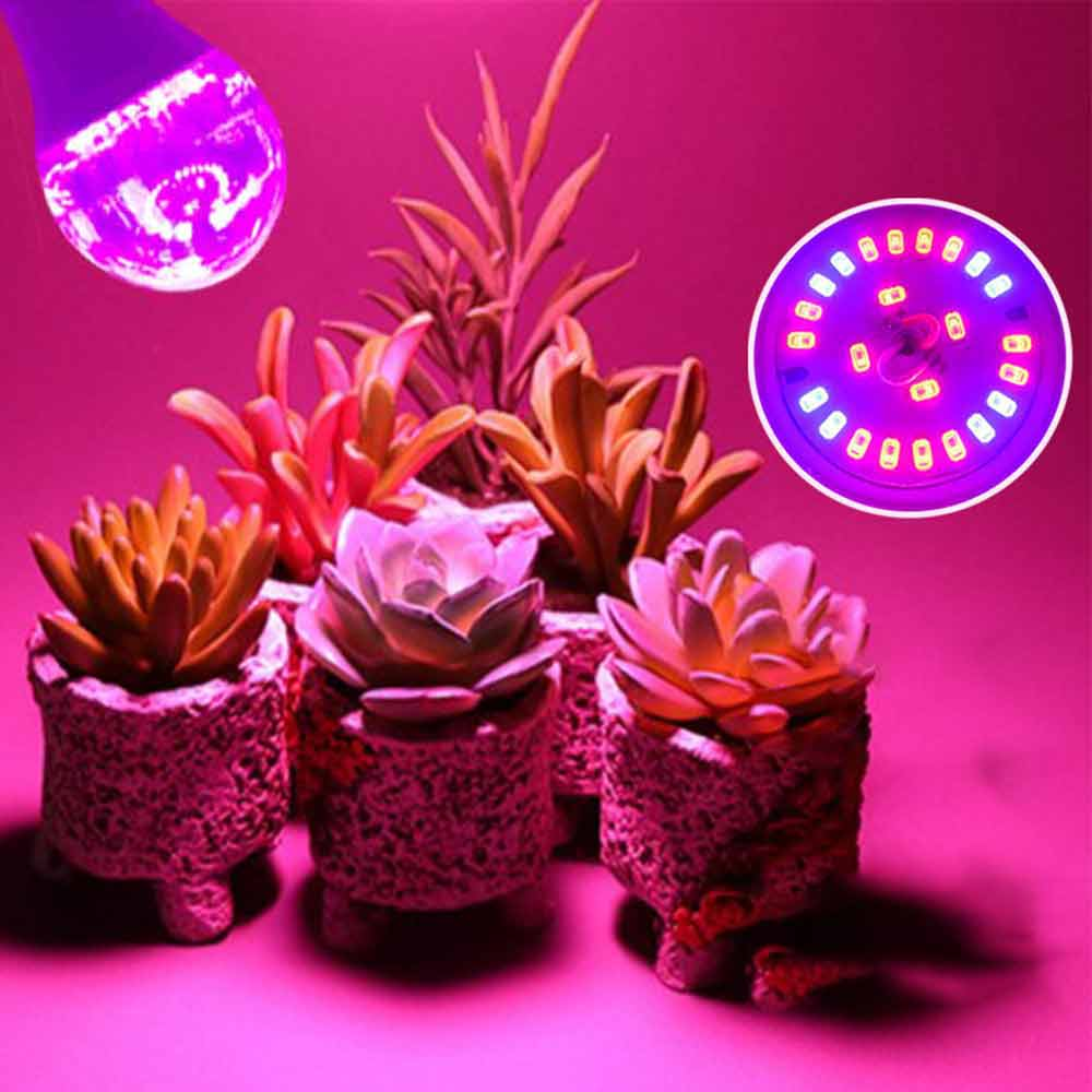 Bombillas de Luz Led para crecimiento de plantas de espectro completo, lámpara de iluminación para semillas, invernadero de hidroflores, suculentas, jardín E26 E27 Phyto Grow