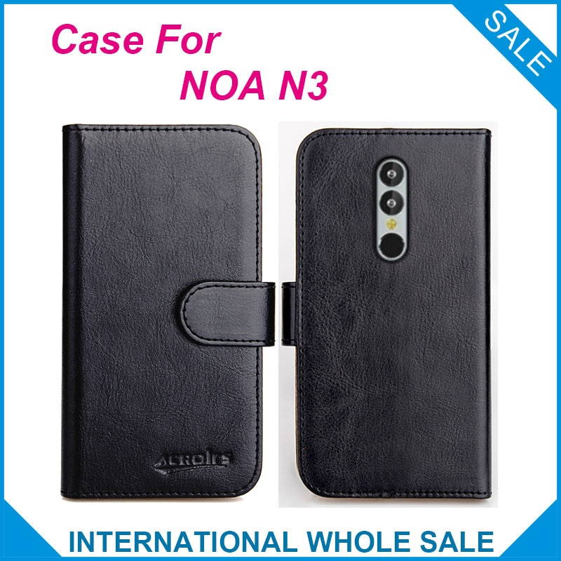 Original! NOA N3 Case 6 Colors High Quality Flip Leather Wallet Case For NOA N3 Cover Slots Phone Bag