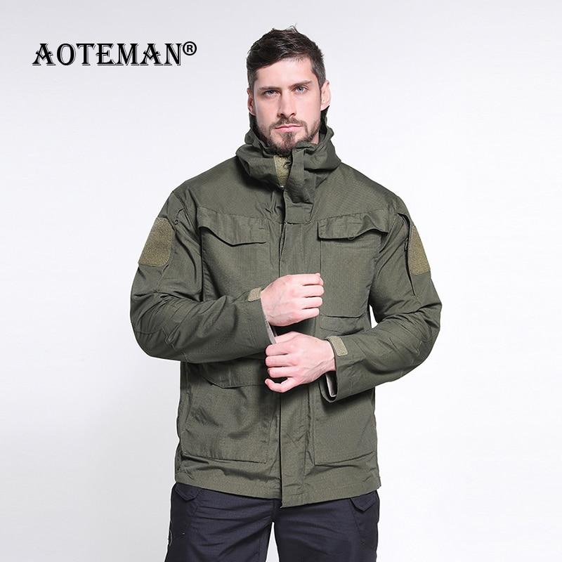 Мужская куртка в стиле милитари, тактическая водонепроницаемая ветрозащитная куртка с капюшоном, мужская верхняя одежда, ветровка, Мужская...