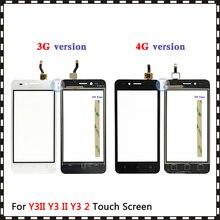 4.5 ''لهواوي Y3II Y3 II Y3 2 3G 4G LUA-U03 LUA-L03 LUA-U23 LUA-L13 LUA-L21 اللمس شاشة محول الأرقام الاستشعار الخارجي الزجاج لوحة