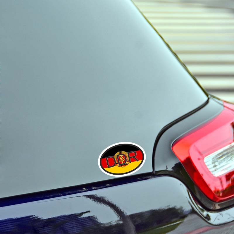 Creative DDR Germany Stickers Country Code Funny Car Sticker PVC Waterproof and Scratch-proof Vinyl Material Decoration  - buy with discount
