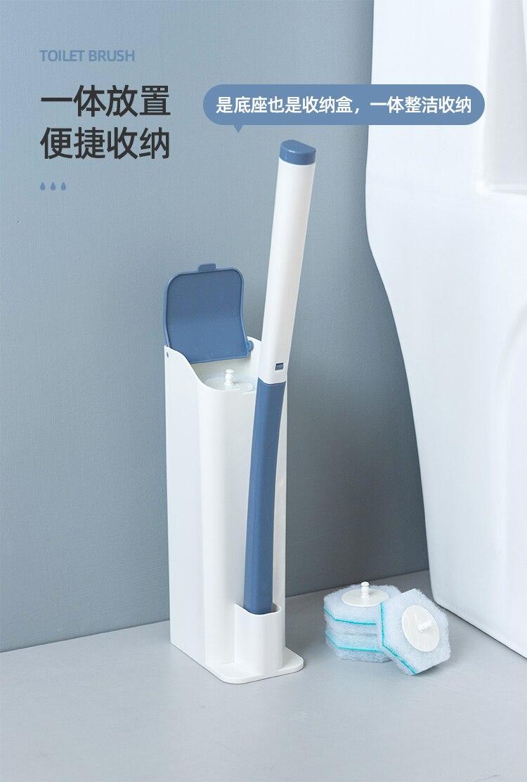 Convenient Replacement Toilet Brush Disposable Portable Standing Toilet Brush Set Brosses De Toilette Bathroom Products DK50TB enlarge