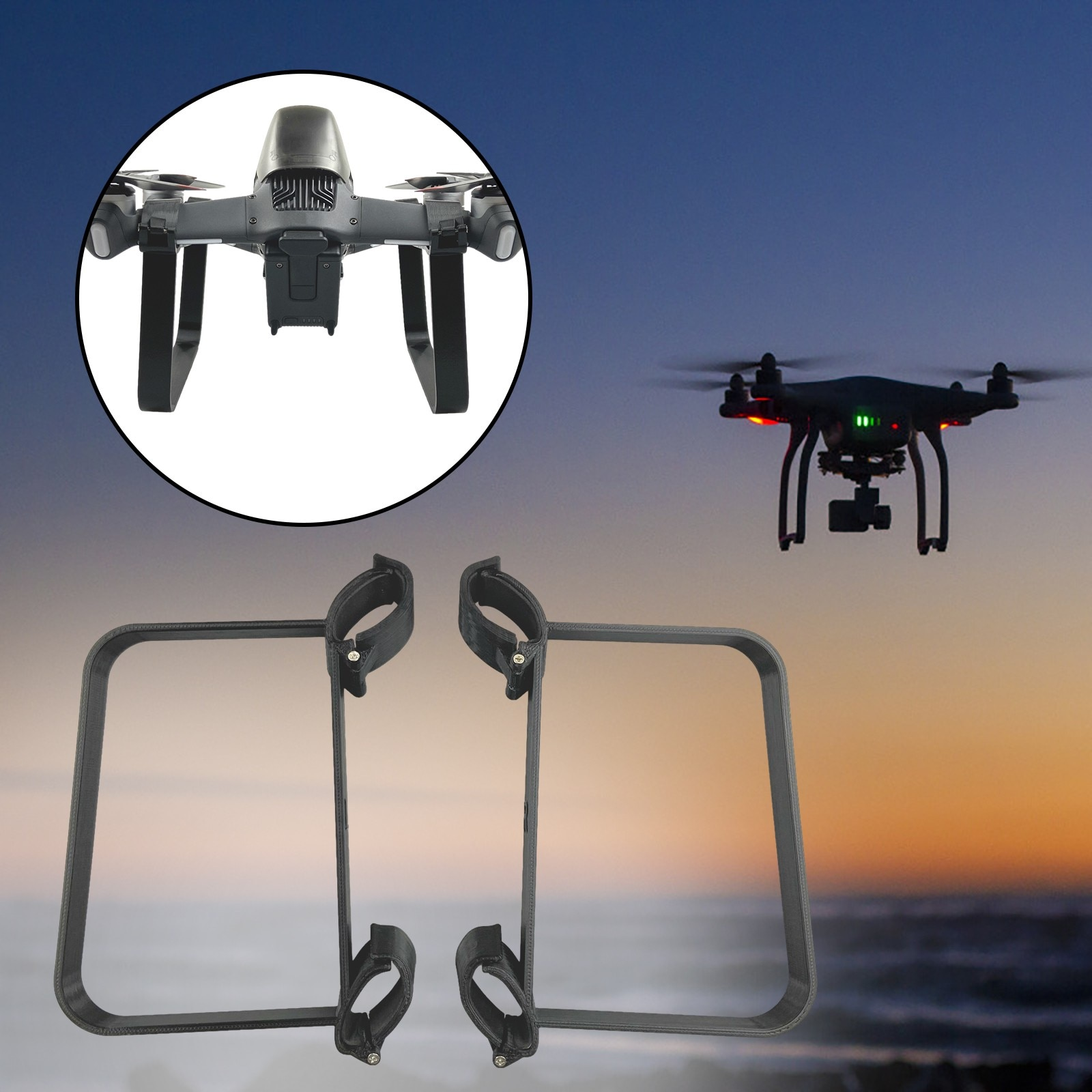 Kids Toys Applicable To Dji Fpv Traversing Machine Heightening Dismounting Bracket Accessories Rc He