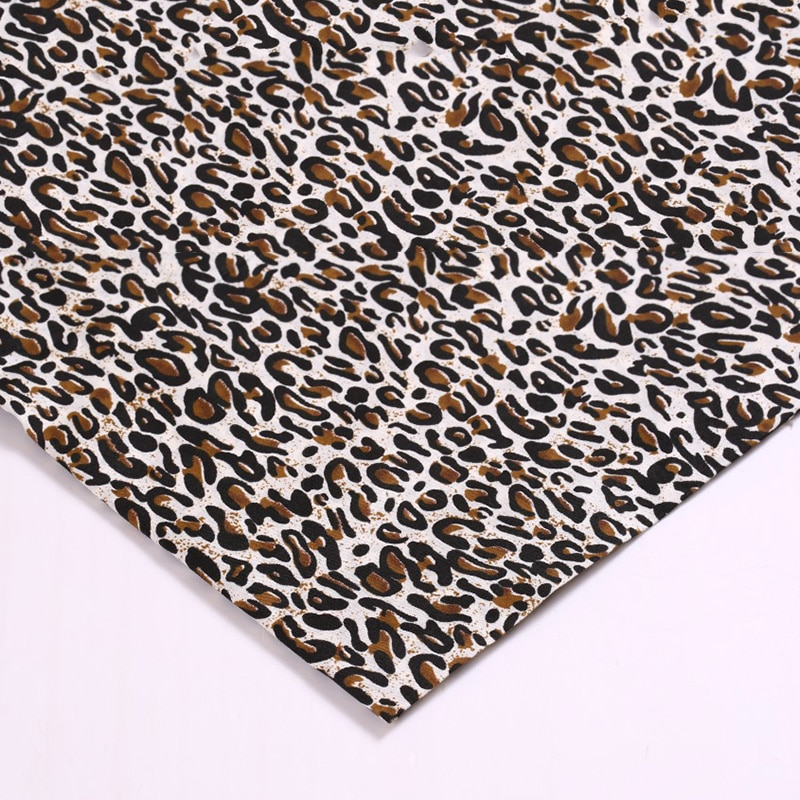100*150cm Leopard Printed Fabric For Sewing Quilting Fabric Polyester Patchwork Needlework Diy Home Textiles Handmade Material  - buy with discount