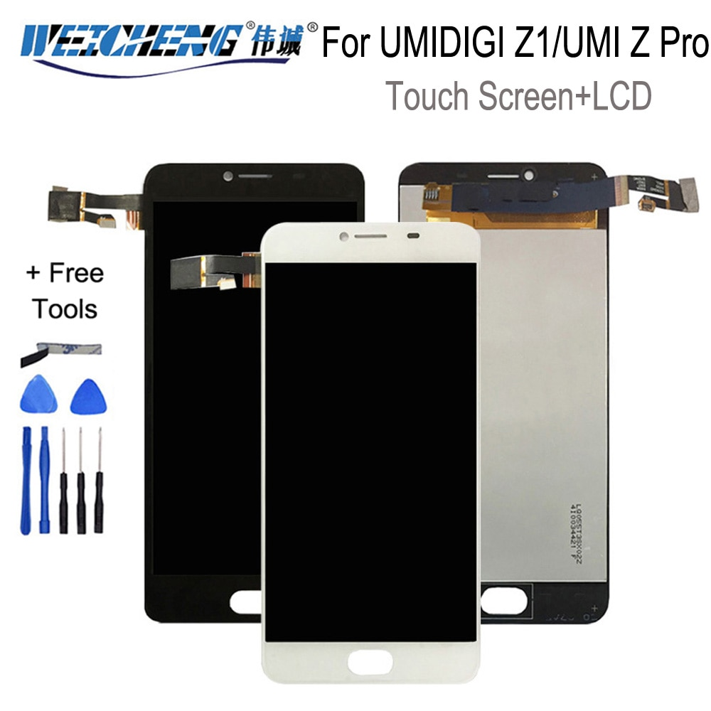 100% протестированный ЖК-дисплей для Umidigi UMI Z / Z PRO, ЖК-дисплей, сенсорный экран, ЖК-дигитайзер, стеклянная панель для замены для UMIDIGI Z1