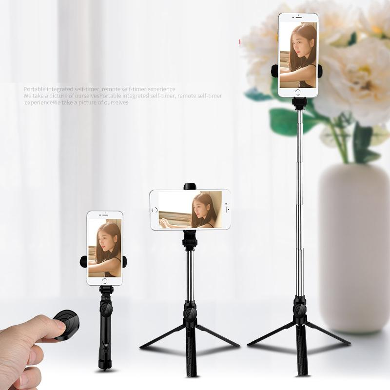 4 in 1 Wireless Bluetooth Selfie Stick Foldable Mini Tripod Expandable Monopod with Remote Control for iPhone IOS Android