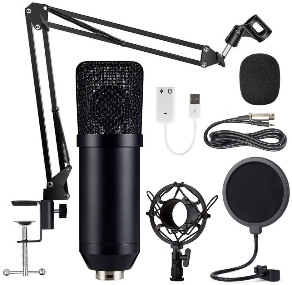 Bm 700 Kit Wired Condenser Microphone With Stand For Computer Studio Recording  Radio Live Broadcast  Karaoke Black Mikrofon