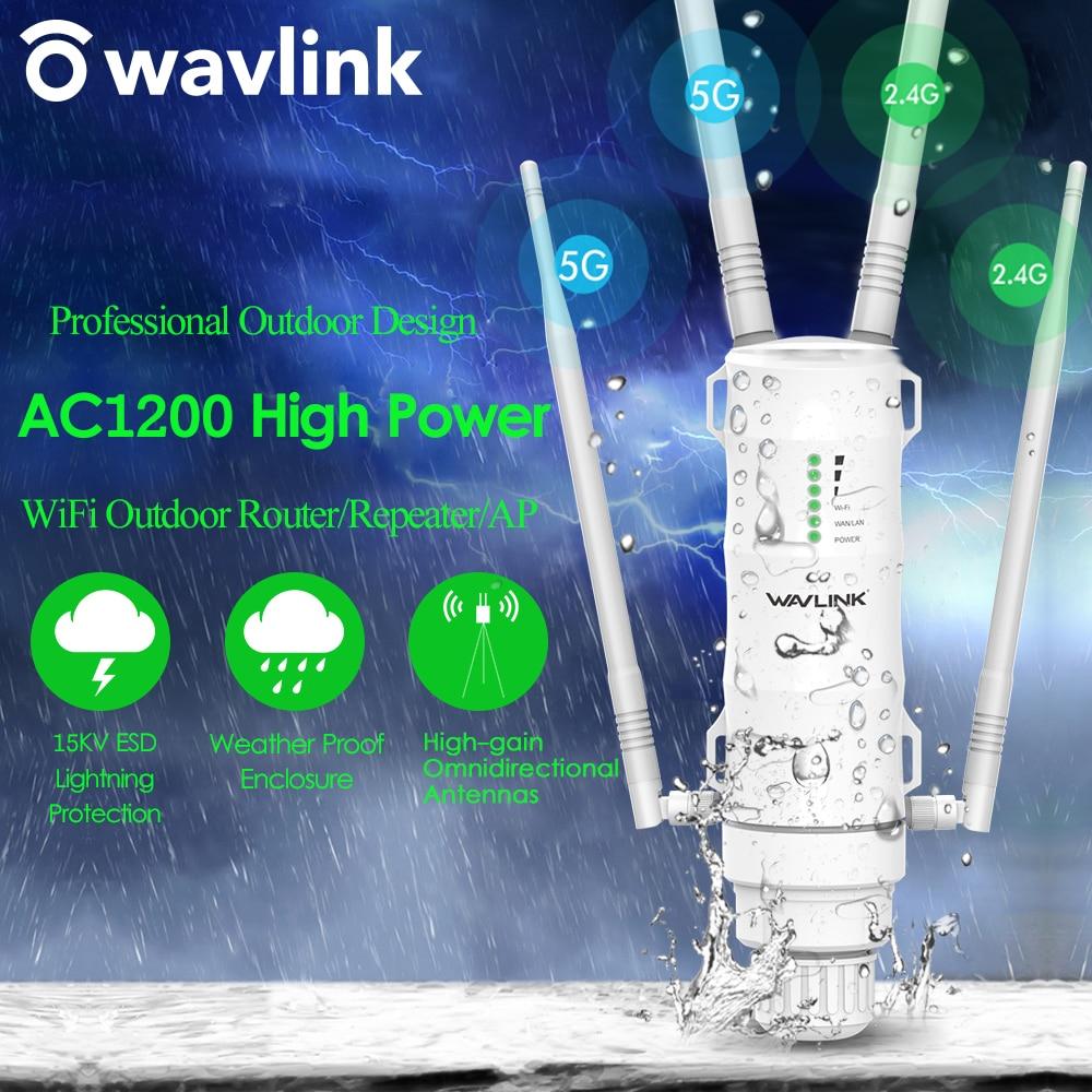 Wavlink-Repetidor Wifi inalámbrico para exterior, rúter, 1200Mbps, Dual Dand 2.4G + 5Ghz,...