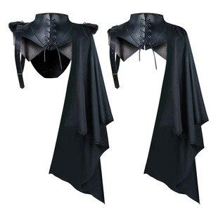 Medieval Armor Black Cloak Single Shoulder Retro Cape Gothic Punk Clothing Renaissance 2021 Hot Sale