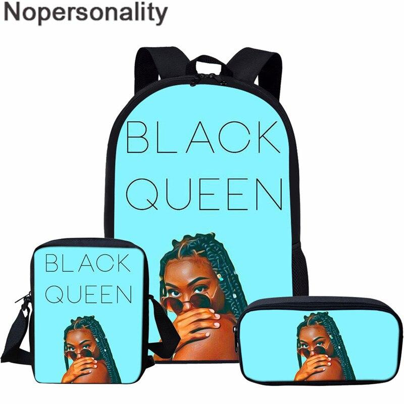Nopersonality Schwarz Königin Afrikanische Mädchen Buch Taschen, Einzigartige Kinder Tasche Nach Bagpack, magie Melanin Schule Taschen für Mädchen, Großhandel