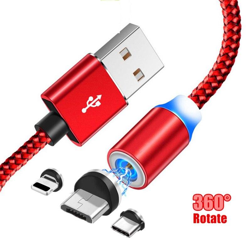 Светодиодный магнитный кабель type C Магнит Micro USB зарядный кабель для Xiaomi Mi 9t 8 Motorola Moto G G2 G3 G4 Play G5 G5S Plus E E2 E3