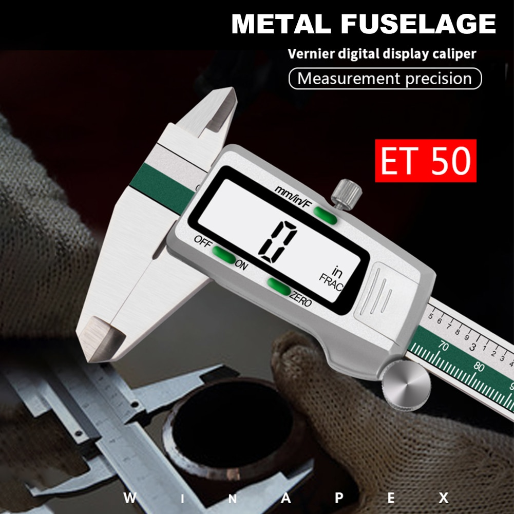 Stainless Steel Digital Display Caliper 150mm Fraction/MM/Inch High Precision Stainless Steel LCD Vernier Caliper measuring Tool