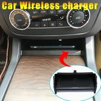 for mercedes gle qi wireless charger 2014 2018 gls ml gl mobile phone fast charging adaptor 10w plate accessories w166 charging