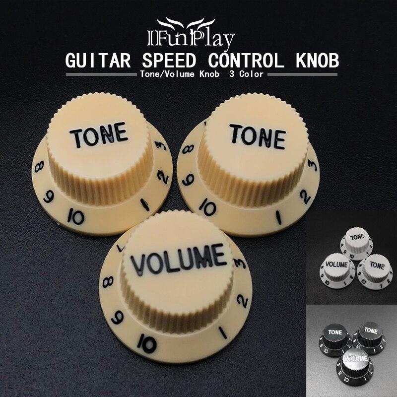 3 шт. электрическая гитара регулятор громкости регулятор скорости пластиковые для ST сменный фиксатор для электрогитары аксессуары для гитары 3 цвета