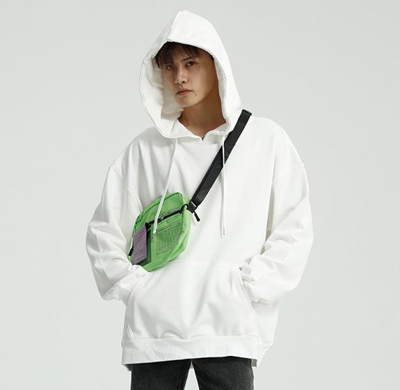 2020 Spring Men Street Style Hoodies Autumn Male Fashion Hoodies Men's Sweatshirts Solid Black Gray White Green Hoodies Coats